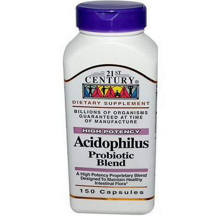 21st Century Health Care, Acidophilus, Probiotic Blend, 150 Capsules