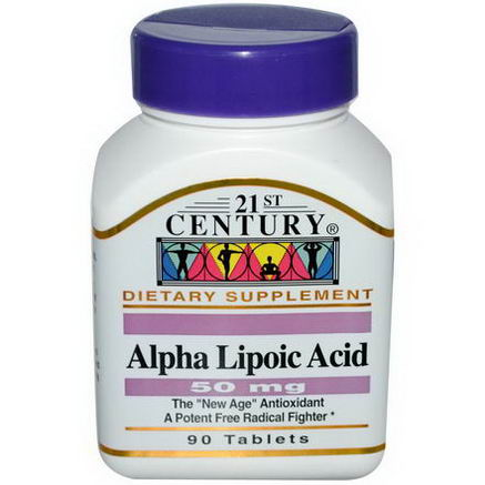 21st Century Health Care, Alpha Lipoic Acid, 50mg, 90 Tablets