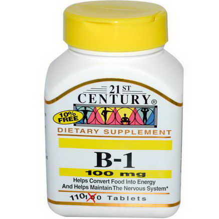 21st Century Health Care, B-1, 100mg, 110 Tablets