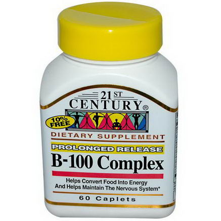 21st Century Health Care, B-100 Complex, Prolonged Release, 60 Caplets