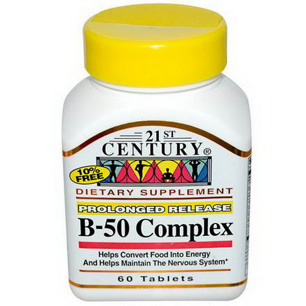 21st Century Health Care, B-50 Complex, 60 Tablets