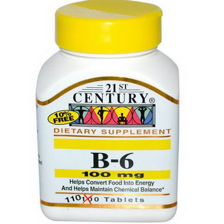 21st Century Health Care, B-6, 100mg, 110 Tablets