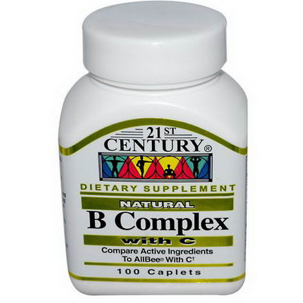 21st Century Health Care, B Complex Natural, with C, 100 Caplets