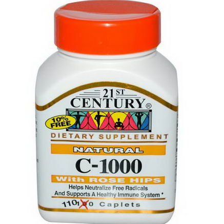 21st Century Health Care, C-1000 with Rose Hips, 1000mg, 110 Caplets