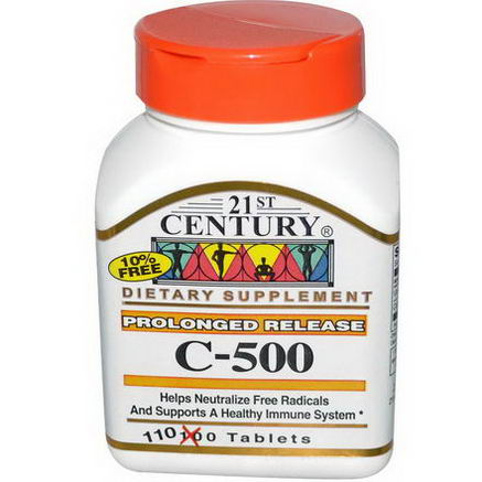 21st Century Health Care, C-500, Prolonged Release, 110 Tablets