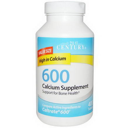 21st Century Health Care, Calcium Supplement 600, 400 Tablets