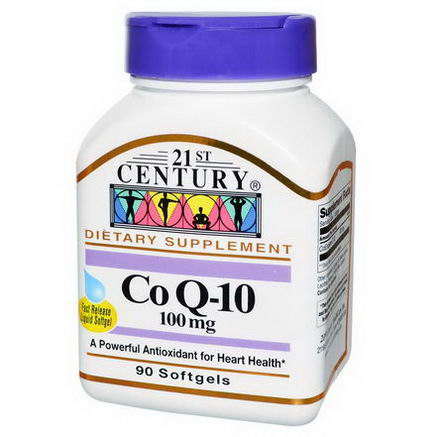 21st Century Health Care, Co Q-10, 100mg, 90 Softgels