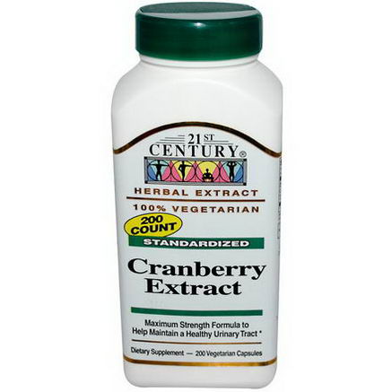 21st Century Health Care, Cranberry Extract, Standardized, 200 Veggie Caps