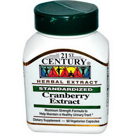 21st Century Health Care, Cranberry Extract, Standardized, 60 Veggie Caps