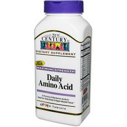 21st Century Health Care, Daily Amino Acid, Maximum Strength, 120 Tablets