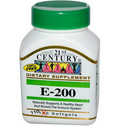 21st Century Health Care, E-200, 110 Softgels