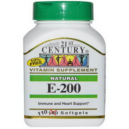 21st Century Health Care, E-200, Natural, 110 Softgels