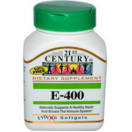 21st Century Health Care, E-400, 110 Softgels