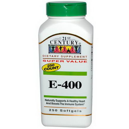 21st Century Health Care, E-400, 250 Softgels