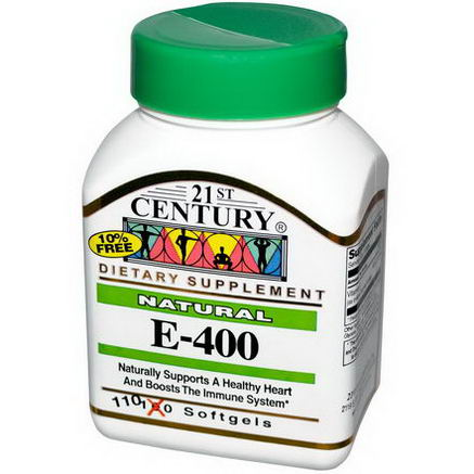 21st Century Health Care, E-400, Natural, 110 Softgels