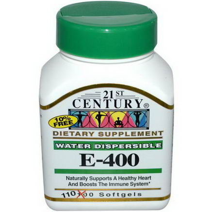 21st Century Health Care, E-400, Water Dispersible, 110 Softgels