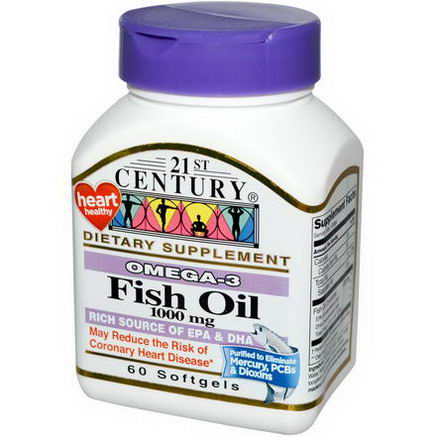 21st Century Health Care, Fish Oil, 1000mg, 60 Softgels