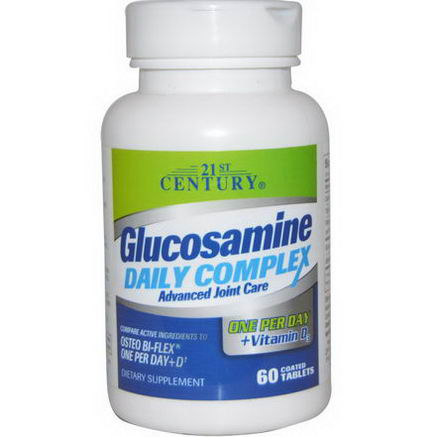 21st Century Health Care, Glucosamine Daily Complex, 60 Coated Tablets