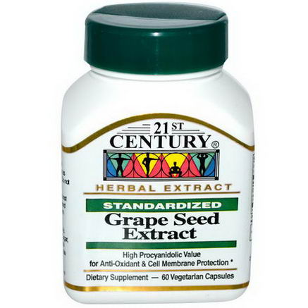 21st Century Health Care, Grape Seed Extract, 60 Veggie Caps