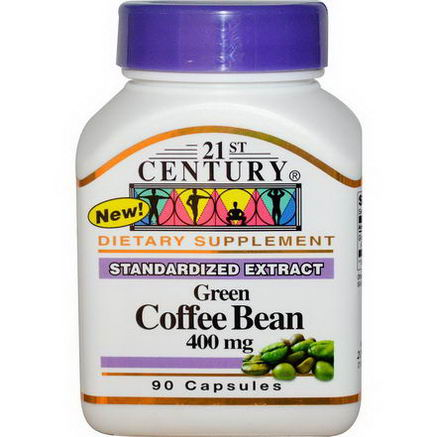 21st Century Health Care, Green Coffee Bean, 400mg, 90 Capsules