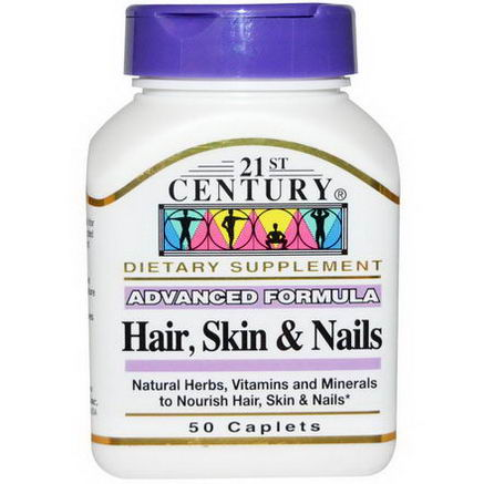 21st Century Health Care, Hair, Skin & Nails, Advanced Formula, 50 Caplets