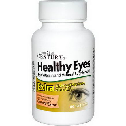 21st Century Health Care, Healthy Eyes, Eye Vitamin and Mineral Supplement, 50 Tablets