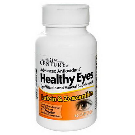 21st Century Health Care, Healthy Eyes, Lutein & Zeaxanthin, 60 Capsules