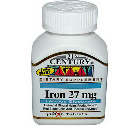 21st Century Health Care, Iron, 27mg, 110 Tablets