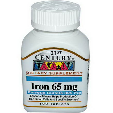 21st Century Health Care, Iron, 65mg, 100 Tablets
