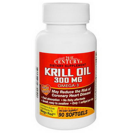 21st Century Health Care, Krill Oil, 300mg, 90 Softgels