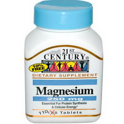 21st Century Health Care, Magnesium, 250mg, 110 Tablets