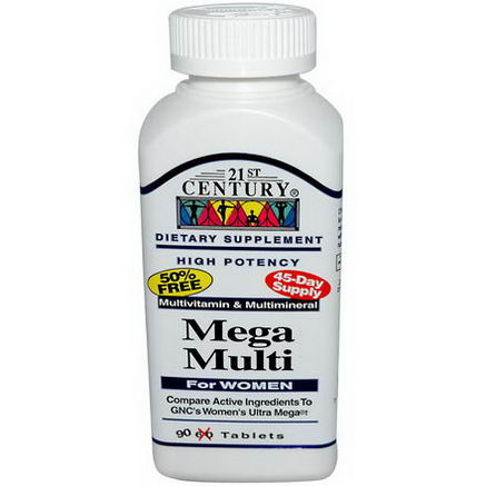 21st Century Health Care, Mega Multi, For Women, 90 Tablets