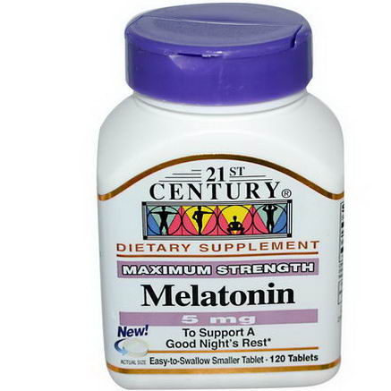 21st Century Health Care, Melatonin, 5mg, 120 Tablets