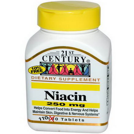 21st Century Health Care, Niacin, 250mg, 110 Tablets