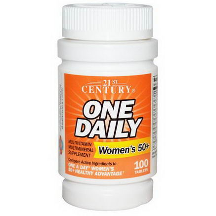 21st Century Health Care, One Daily, Woman's 50+, Multivitamin Multimineral, 100 Tablets