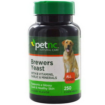 21st Century Health Care, Pet Natural Care, Brewers Yeast, All Dogs, Savory Flavor, 250 Chewables