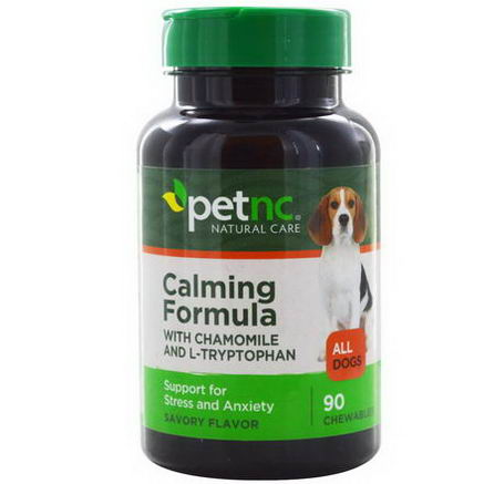 21st Century Health Care, Pet Natural Care, Calming Formula, All Dogs, Savory Flavor, 90 Chewables