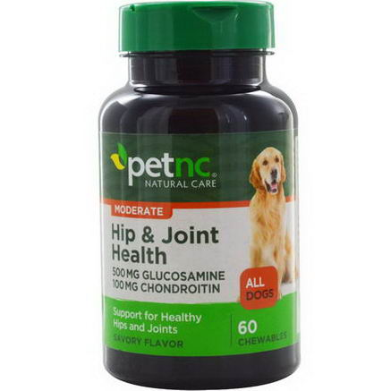 21st Century Health Care, Pet Natural Care, Hip & Joint Health, All Dogs, Savory Flavor, 60 Chewables
