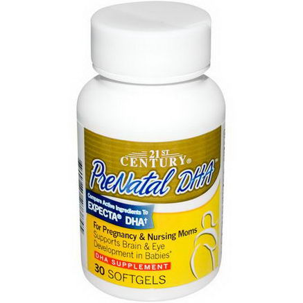 21st Century Health Care, Prenatal DHA, 30 Softgels