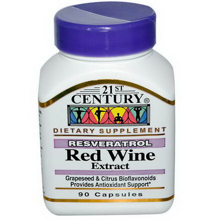 21st Century Health Care, Resveratrol, Red Wine Extract, 90 Capsules