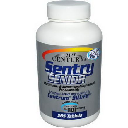 21st Century Health Care, Sentry Senior, Multivitamin & Mineral Supplement for Active Adults 50+, 265 Tablets