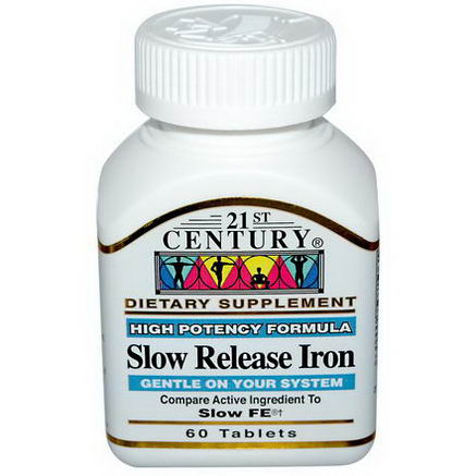 21st Century Health Care, Slow Release Iron, 60 Tablets