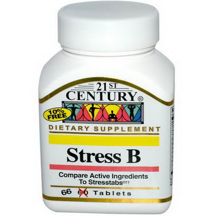 21st Century Health Care, Stress B, 66 Tablets