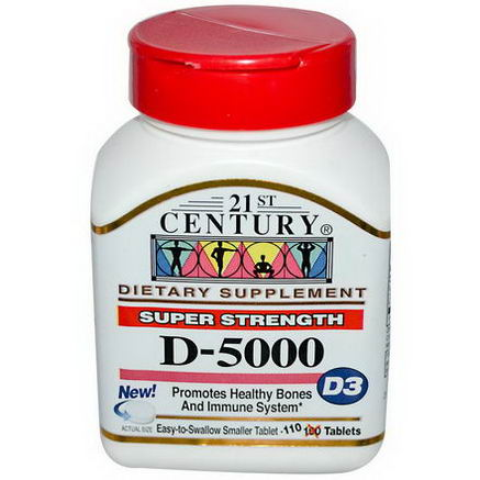 21st Century Health Care, Super Strength D3-5000, 110 Tablets