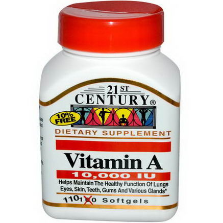 21st Century Health Care, Vitamin A, 10, 000 I. U. 110 Softgels