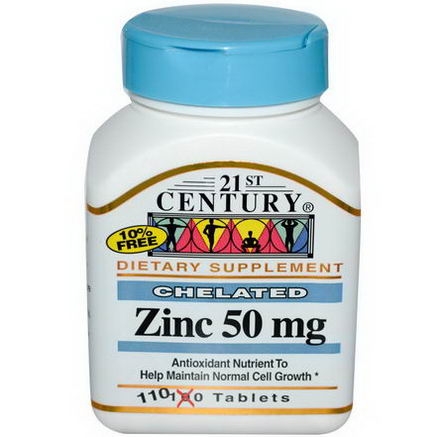 21st Century Health Care, Zinc, 50mg, 110 Tablets