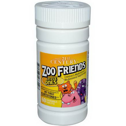 21st Century Health Care, Zoo Friends, Little Ones, Children's Multivitamin Multimineral, 60 Chewable Tablets