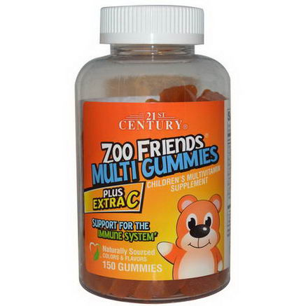 21st Century Health Care, Zoo Friends Multi Gummies, Plus Extra C, 150 Gummies
