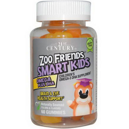 21st Century Health Care, Zoo Friends Smart Kids Omega Plus DHA, 60 Gummies