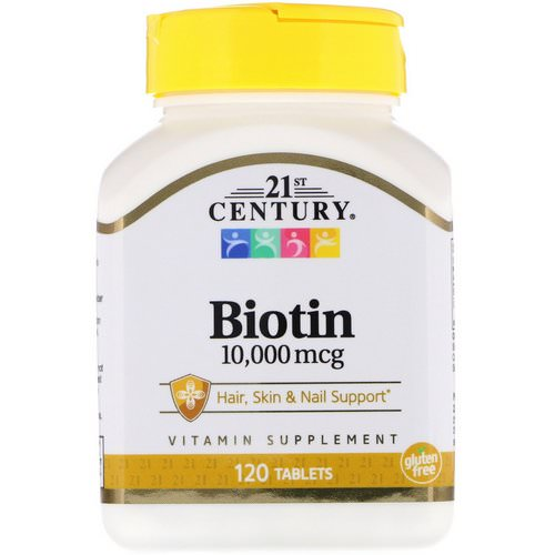 21st Century, Biotin, 10,000 mcg, 120 Tablets Review